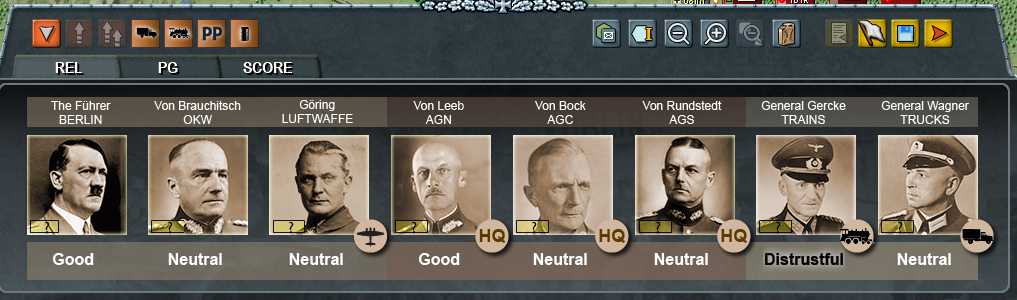 Well, the trains guy doesn't like me, but at least I'm on good terms with Hitler.